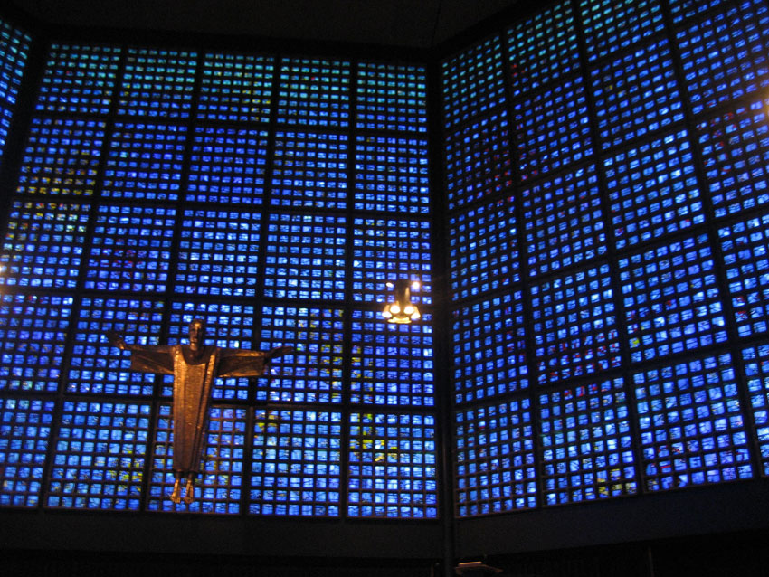 Berlin faceted glass church